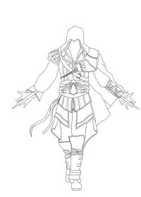 Coloriage Assassin Creed 2 A Imprimer Assassin S Creed