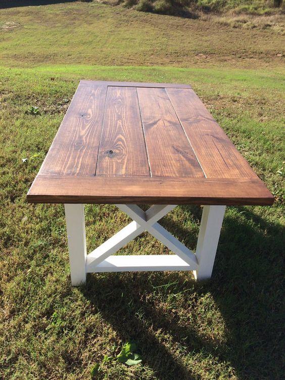 Farmhouse Table Farm table and bench by