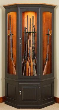 Corner Gun Cabinet | Furniture | Pinterest | Cabinets ...