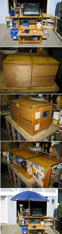 Build Your Own Camp Kitchen Chuck Box | DIY | Pinterest ...