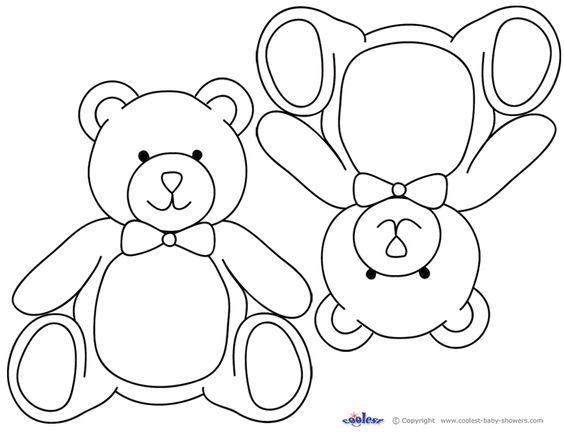 Blank Printable Teddy Bear Invitations Coolest Free