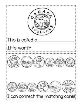 Canadian Money: Coins Student Activity Booklet (12 half