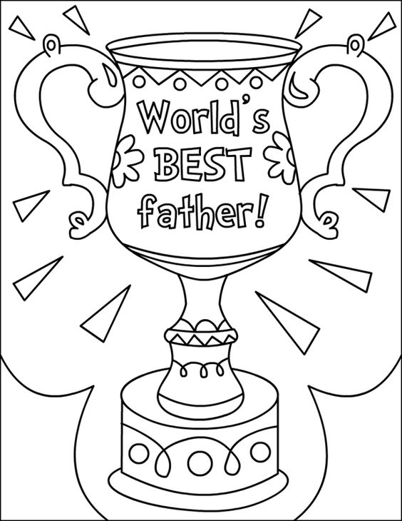 Free Printable Happy Fathers Day Coloring Pages (shared
