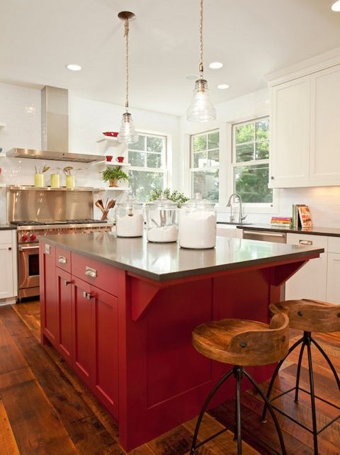 Awesome We love a pop of colour so why not add one to your kitchen When your kitchen island