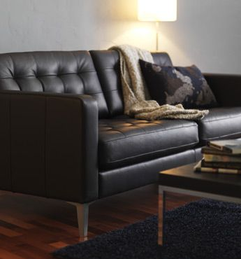 rolf benz sofa reviews modern brown and beige leather sectional with recliners \ ikea karlstad - i like the floor color he ...