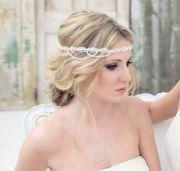 crystal headband wedding
