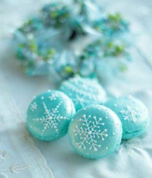 Macarons flocons