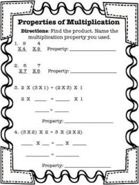 Properties of Multiplication | Multiplication practice ...
