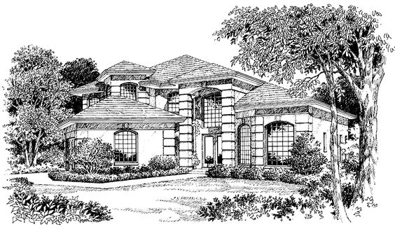 Mediterranean House Plan With 2800 Square Feet And 3
