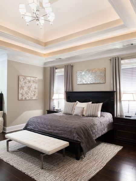 light brown paint bedroom room Bedroom Design, Transitional Bedroom With Light Brown Wall