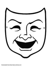Comedy, Mask template and Masks on Pinterest