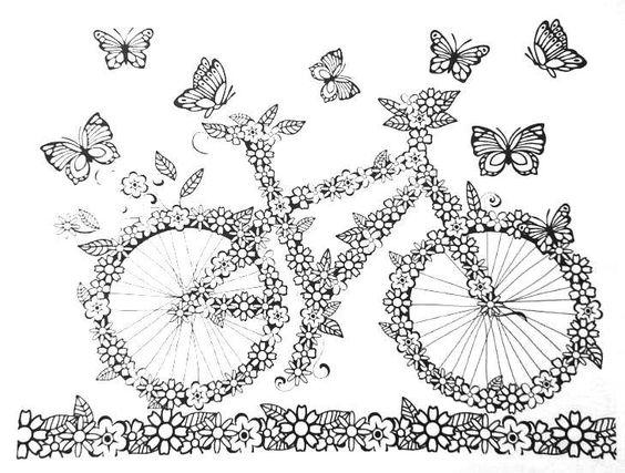 Resultado de imagem para desenhos para colorir jardim