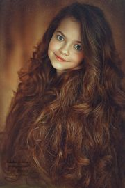 beautiful hair little girl