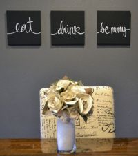 Eat Drink & Be Merry Canvas Wall Art Paintings Black and