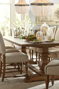 The Havertys Avondale dining collection is rustic and chic