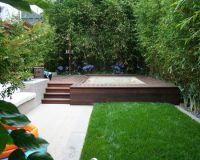 contemporary landscape small garden design ideas bamboo ...