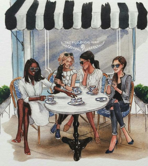artist: Inslee Haynes i love this drawing. Tea shop in Paris:
