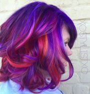 orange pink purple and colorful