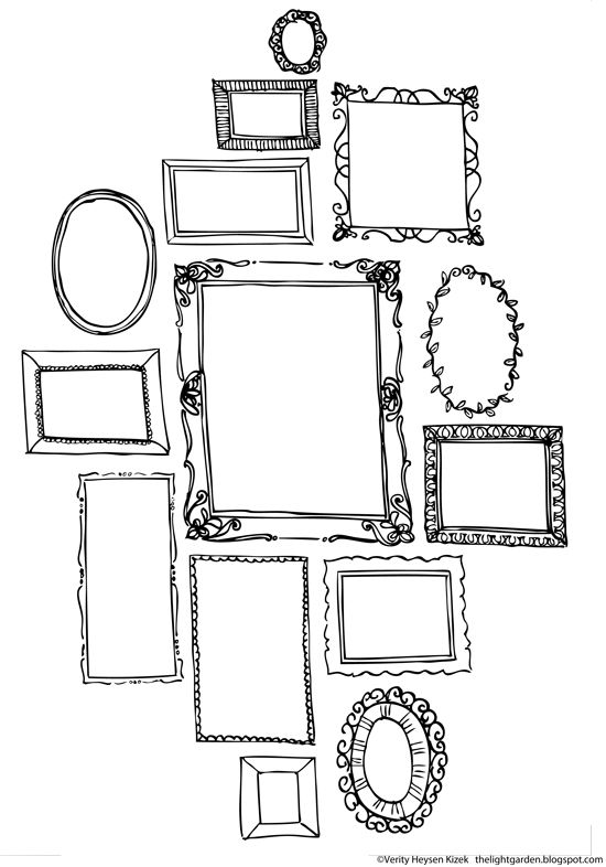 Free printables. Think & Draw Creative Pages by