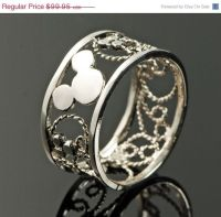 Wedding Sale Mickey Mouse Ring - Filigree Ring - Disney ...