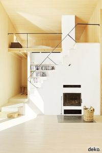 Compact living. I think I would move the fireplace and put ...
