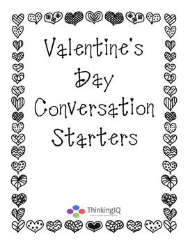 Conversation questions, Writing prompts and Valentines day