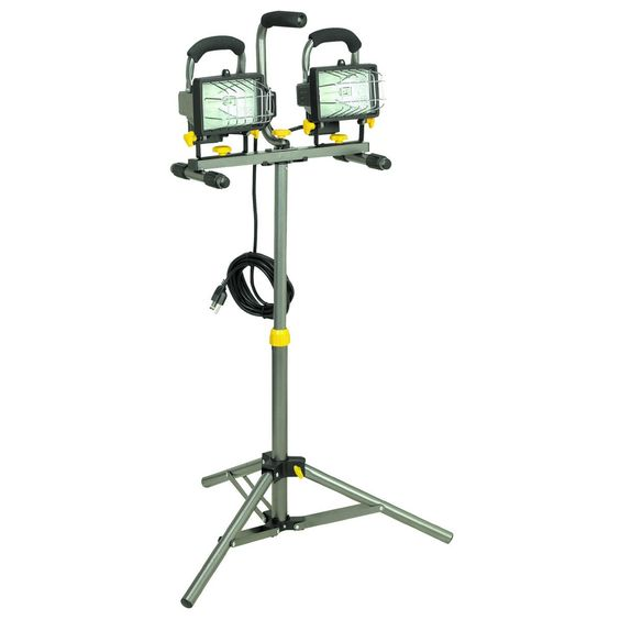 Luminar Work 40123 500 Watt Dual Head Halogen Shop Light