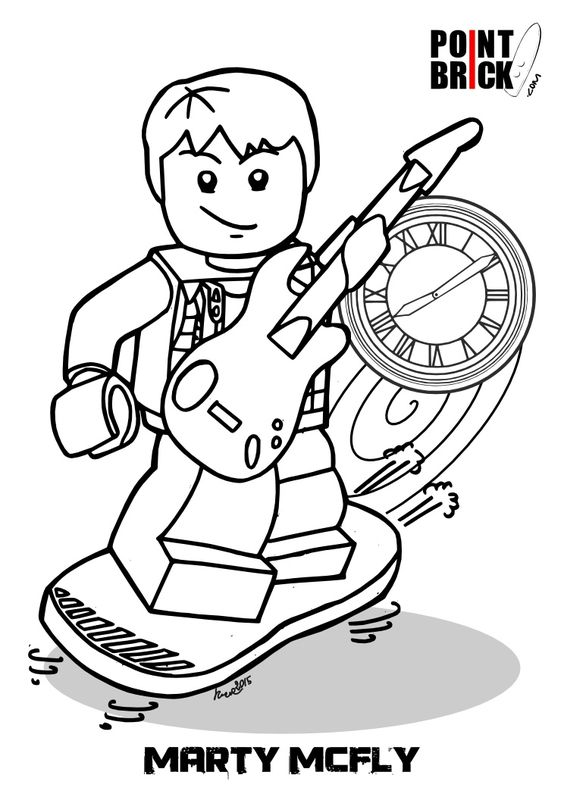 Back To The Future 2 Coloring Pages Coloring Pages