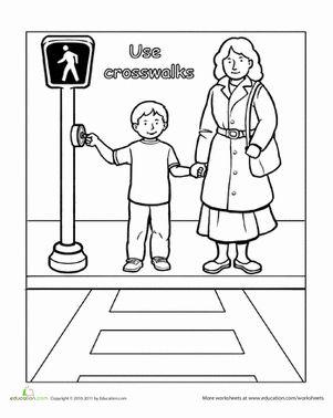 Pedestrian Safety For Kids Worksheets