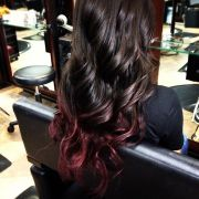 subtle ombre hair and brown