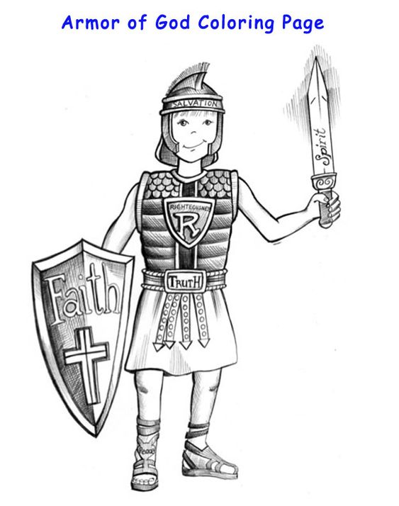 Coloring, Armors and Armor of god on Pinterest