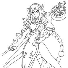 Erza Scarlet Fairy Tail Coloring Pages Sketch Coloring Page