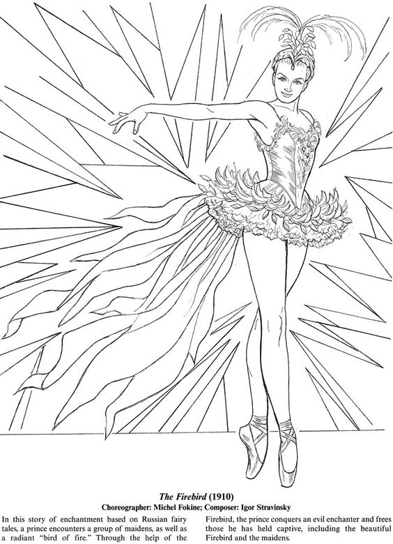Coloring, Ballet and Coloring books on Pinterest