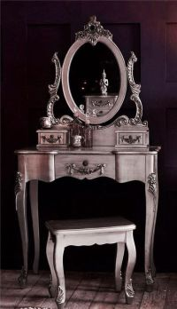 Antique Silver French Vintage Shabby Chic Dressing Table ...