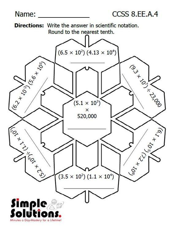 Eighth Grade math worksheet. Free download. #math #snow #