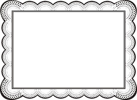 Free Certificate Borders For Word ClipArt Best Frames