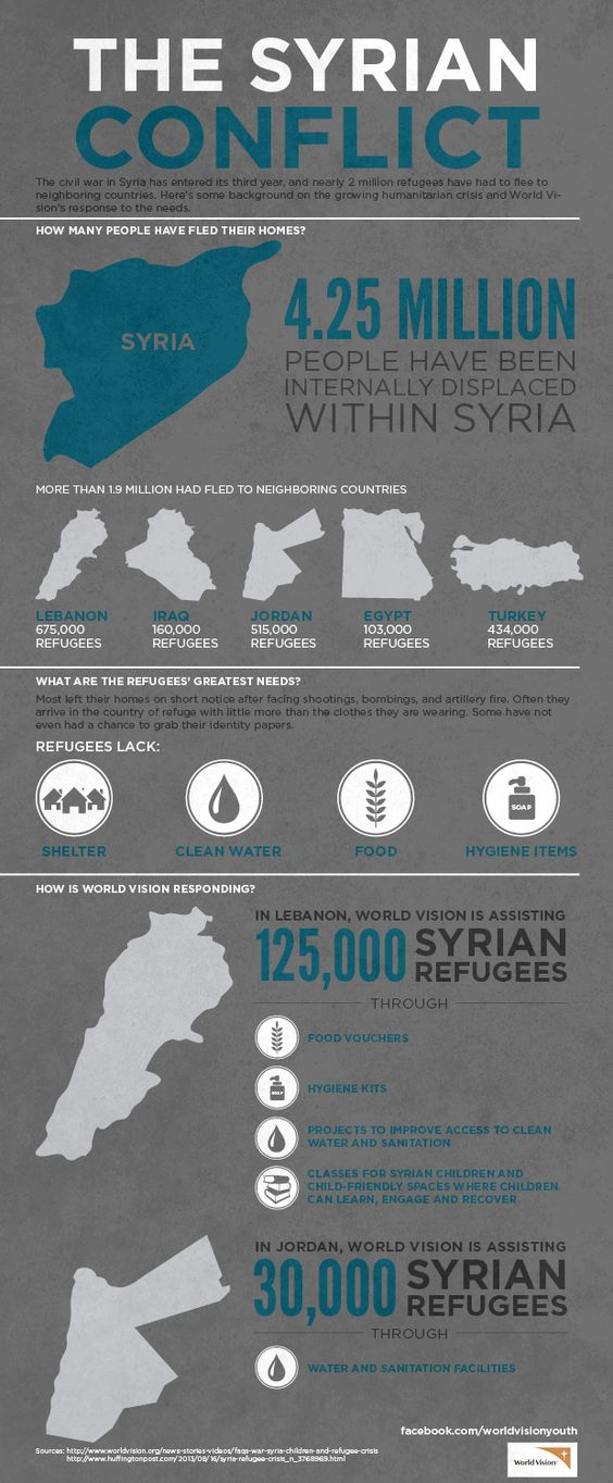 syrian refugees infographic
