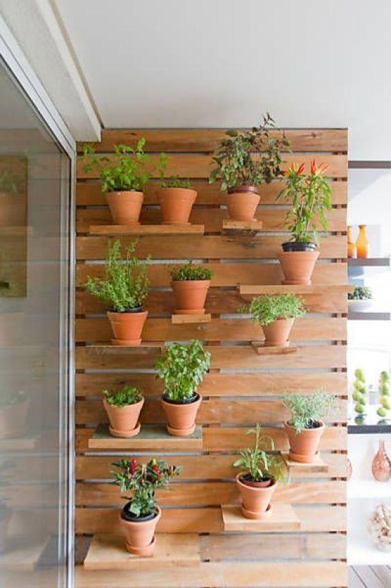 decoração com horta vertical