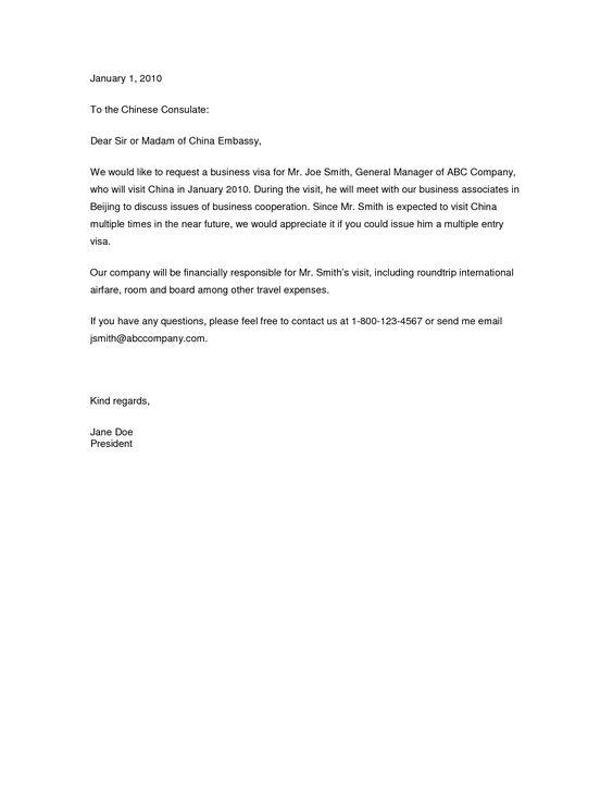 Travel Expenses Sponsorship Letter