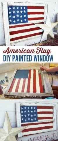 DIY American Flag Painted Window. Awesome 4th of July