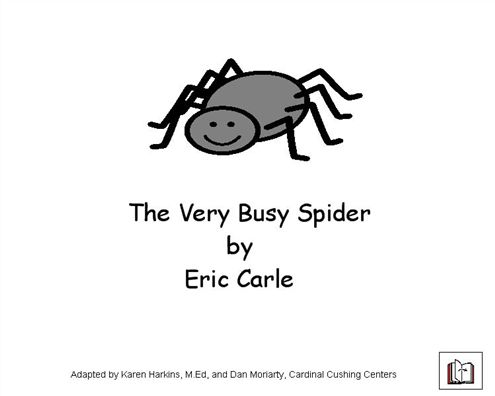 Boardmaker Achieve: The very busy spider adapted book and