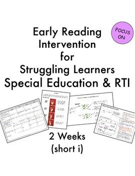 Reading intervention, Short vowels and Special education