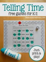 If you're looking for telling time activities, you'll love these 3 free games. Just print and play!:
