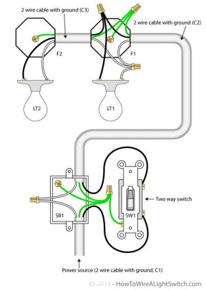 2 way switch with power feed via switch (multiple lights)   How to wire a light switch   Energy