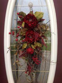 Fall wreath and swag ideas | Teardrop Door Swag A change ...