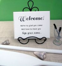 Welcome Sign Your Name Wedding Guest Book Sign In Table