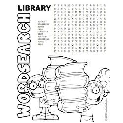 Printable Library Word Search to keep the kid's minds