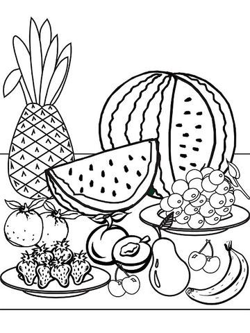 Summer coloring pages, Watermelon and First grade on Pinterest