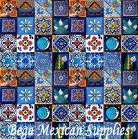 50 Mexican Talavera Tiles Mixed Designs 2x2 Mosaic Tiles ...