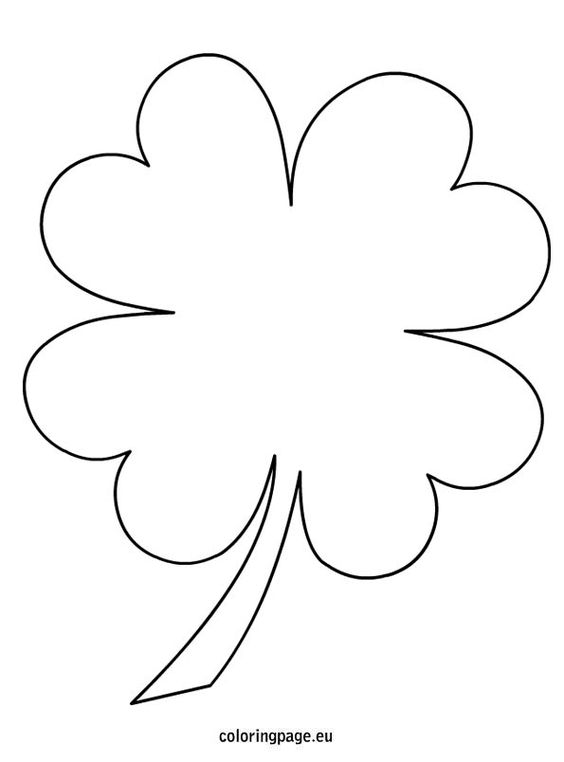 coloring molde and clovers on pinterest